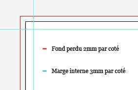 Marge 2mm De Fond Perdu 3mm Interne Sans Lment Important Exemple Carte Visite